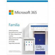 MICROSOFT OFFICE 365 FAMILIA 6 LICENCIAS 1 AÑO (CAJA) NEW