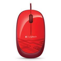 MOUSE RATON LOGITECH M105 OPTICO USB ROJO