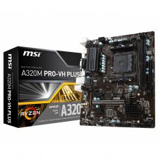 PLACA BASE MSI AMD A320M PRO-VH PLUS SOCKET AM4 DDR4 X22667 MHZ MAX 32GB HDMI D-SUB MICRO ATX