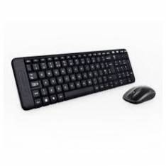 TECLADO + MOUSE LOGITECH MK220 OPTICO WIRELESS INALAMBRICO USB NEGRO