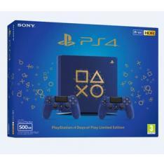 CONSOLA SONY PS4 500GB EDICION LIMITADA DAYS OF PLAY AZUL 2 MANDOS DUALSHOCK