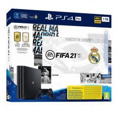 CONSOLA SONY PS4 PRO 1TB EDICION REAL MADRID + FIFA 21+ CODIGO CON CONTENIDO DESCARGABLE ULTIMATE TEAM + 14 DIAS PS PLUS