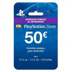 TARJETA PREPAGO MONEDERO SONY PLAYSTATION LIVE CARD 50 EUROS PS4   PS3   PSP   PSVITA