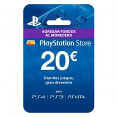 TARJETA PREPAGO MONEDERO SONY PLAYSTATION LIVE CARD 20 EUROS  PS4 / PS3 / PSP / PS VITA