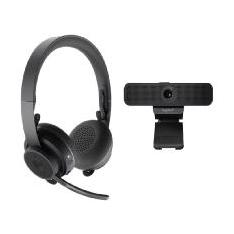 KIT PERSONAL DE VIDEO COLABORACION LOGITECH WEBCAM C925E Y AURICULAR  ZONE WIRELESS