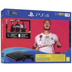 CONSOLA SONY PS4 1TB NEGRA + FIFA 20 + PS PLUS 14 DIAS