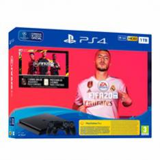 CONSOLA SONY PS4 1TB NEGRA + FIFA 20 + 2 MANDOS + PS PLUS 14 DIAS
