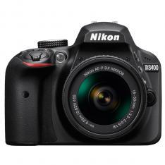 CAMARA DIGITAL REFLEX NIKON D3400 NEGRO 24.2MP AFP DX NIKKOR 18-55MM NO VR + ESTUCHE + LIBRO