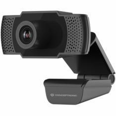 WEBCAM FHD CONCEPTRONIC AMDIS01B / 1080P / USB / 30 FPS / ANGULO VISION 90º / FOCO MANUAL / MICROFONO INTEGRADO