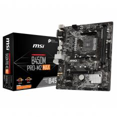PLACA BASE MSI AMD B450M PRO-M2 MAX SOCKET AM4 DDR4 X 4 2667MHZ MAX 32GB D-SUB HDMI  MATX