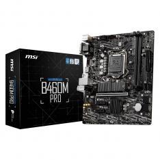 PLACA BASE MSI INTEL B460M-PRO SOCKET 1200 / DDR4 X2 / 2933MHZ / MAX 32GB / HDMI / DVI-D / D-SUB / MATX