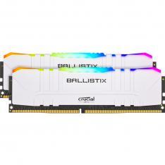MEMORIA DDR4 16GB 2X8GB CRUCIAL BALLISTIX GAMING / UDIMM / 3200 MHZ / PC4 25600 / CL16 / RGB / BLANCO