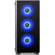 CAJA ORDENADOR GAMING THERMALTAKE V200 TG RGB ATX / CRISTAL TEMPLADO / USB / NEGRO