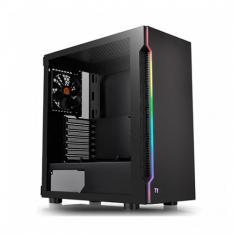 CAJA ORDENADOR GAMING THERMALTAKE H200 TG RGB ATX   CRISTAL TEMPLADO   USB 3.0   NEGRO