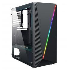CAJA ORDENADOR GAMING COOLBOX DEEPABYSS RGB ATX USB SIN FUENTE