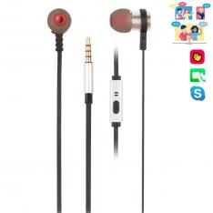 AURICULARES METALICOS NGS CROSS RALLY SILVER / TECNOLOGIA VOZ ASSISTANT / 20HZ-20KHZ / 95DB  / JACK 3.5MM / CABLE 1.2M