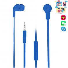 AURICULARES INTRAUDITIVOS NGS CROSS SKIP BLUE/ TECNOLOGIA VOZ ASSISTANT / 20HZ-20KHZ / 106DB  / JACK 3.5MM / CABLE 1.2M