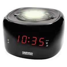 RADIO RELOJ DESPERTADOR DAEWOO DCR-440 NEGRO