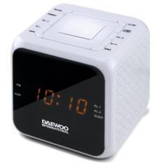 RADIO RELOJ DESPERTADOR DAEWOO DCR-450 BLANCO