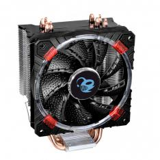 VENTILADOR DISIPADOR COOLBOX DEEP CYCLONE GAMING. PARA INTEL Y AMD LED ROJO