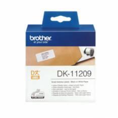 ETIQUETAS PAPEL PRECORTADA BROTHER DK11209 29 x 62 MM 400E QL-500A QL-500BW QL-560 QL-570 QL-580N QL-1050