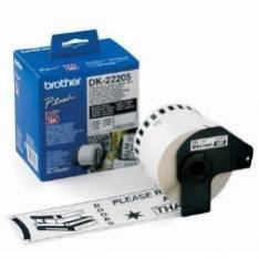 ETIQUETAS CINTA CONTINUA BROTHER BLANCA DK22205 63MM QL-500A QL-500BW QL-560 QL-570 QL-580N QL-1050