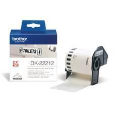 ETIQUETAS CINTA CONTINUA BROTHER PELICULA PLASTICA BLANCA DK22212 29MMx30.48 QL-1050/ QL-1050N, QL-1060N, QL-500, QL-500A/ QL-550/ QL-560/ QL-560VP/ QL-570/ QL-580N/ QL-650TD/ QL-700/ QL-710W/ QL-720NW/ QL-1050