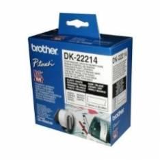 ETIQUETAS CINTA CONTINUA BROTHER BLANCA DK22214 12MM QL-500A QL-500BW QL-560 QL-570 QL-580N QL-1050 QL-1060N