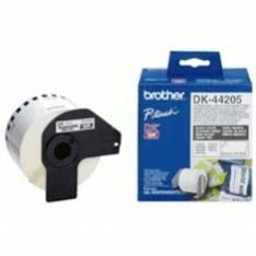ETIQUETAS CINTA CONTINUA BROTHER DK44205 PAPEL BLANCA REMOVIBLE DK44205 12MM QL-560 QL-570 QL-580N QL-1050 QL-1060N