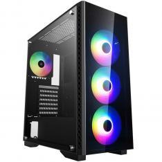 CAJA ORDENADOR GAMING DEEPCOOL MATREXX 55 ADD-RGB 4F E-ATX / CRISTAL TEMPLADO / USB / NEGRO