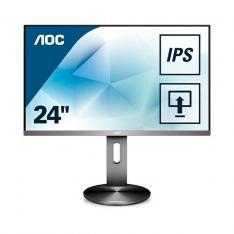 "MONITOR LED IPS 23.8"" AOC I2490PXQU/BT / VGA / HDMI / DP / USB3.0 / 1920X1080 / 4MS / 60HZ / ALTAVOCES /"