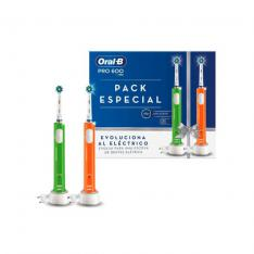 CEPILLO DENTAL ELECTRICO ORAL-B PRO 600 DUO 2XCABEZAL CROSS ACTION/ TEMPORIZADOR/ 2XMANGOS