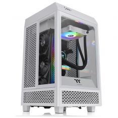 TORRE M-ITX THERMALTAKE TOWER SNOW 100 / 2XVEN120X120 / CRISTAL TEMPLADO / BLANCO