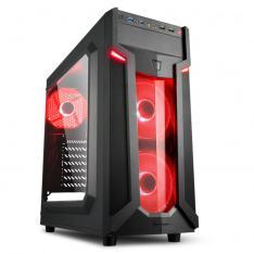 CAJA SHARKOON VG6-W ATX 2XUSB3.0 SIN FUENTE RED