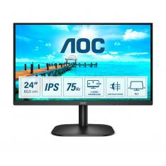 """MONITOR LED 24 """" AOC 24B2XDA / IPS / HDMI / VGA / DVI / 75HZ / 4MS / ALTAVOCES / VESA 100X100"""