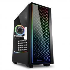 CAJA SHARKOON LIT 200 ATX 2XUSB3.0 RGB SIN FUENTE NEGRO