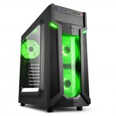 CAJA SHARKOON VG6-W ATX 2XUSB3.0 SIN FUENTE GREEN