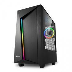 CAJA ATX SHARKOON REV100 2XUSB3.0 RGB SIN FUENTE NEGRO