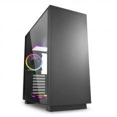 CAJA SHARKOON PURE STEEL ATX 2XUSB3.0 SIN FUENTE RGB