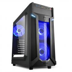 CAJA SHARKOON VG6-W ATX 2XUSB3.0 SIN FUENTE BLUE
