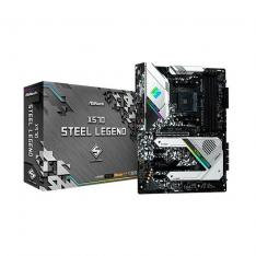 PLACA BASE ASROCK AM4 X570 STEEL LEGEND ATX/ 4 x DDR4 /  8 x SATA3 / A RGB 90-MXBAR0-A0UAYZ