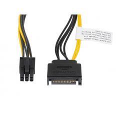 CABLE ALIMENTACION LANBERG SATA MACHO/ PCI EXPRESS MACHO 20CM