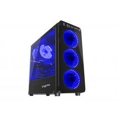 CAJA GAMING GENESIS IRID 300 ATX 1XUSB 3.0 2XUSB 2.0 S/F CRISTAL TEMPLADO AZUL