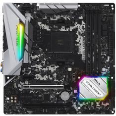 PLACA BASE ASROCK AM4 B450M STEEL LEGEND M-ATX / 4 X DDR4 / 6 X SATA3 / 2 X USB + 1 X USB3.0 FP 90-MXB9Y0-A0UAYZ