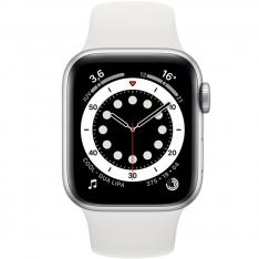 RELOJ APPLE WATCH SERIES 6 GPS 44MM SILVER 6/ALUMINIUM CASE WITH WHITE SPORT BAND/GPS M00D3TY/A