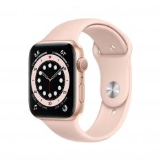 RELOJ APPLE WATCH SERIES 6 GPS 44MM GOLD 6/ALUMINIUM CASE WITH PINK SAND SPORT BAND/GPS M00E3TY/A