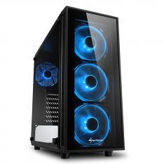 CAJA SHARKOON TG4 BLUE ATX 2XUSB3.0 SIN FUENTE