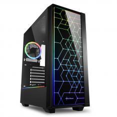 CAJA SHARKOON LIT 100 ATX 2XUSB3.0 RGB SIN FUENTE NEGRO