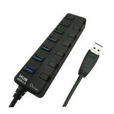 HUB L-LINK  7 PUERTOS USB 3.0 CON ALIMENTACION LL-UH-307