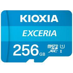 TARJETA MEMORIA MICRO SECURE DIGITAL SD KIOXIA 256GB EXCERIA UHS-I C10 R100 CON ADAPTADOR